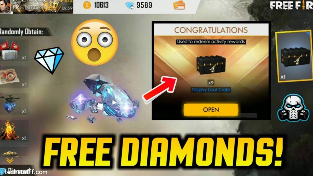 how to get free diamonds in free fire