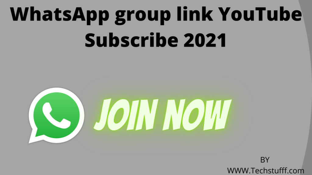 WhatsApp group link YouTube Subscribe